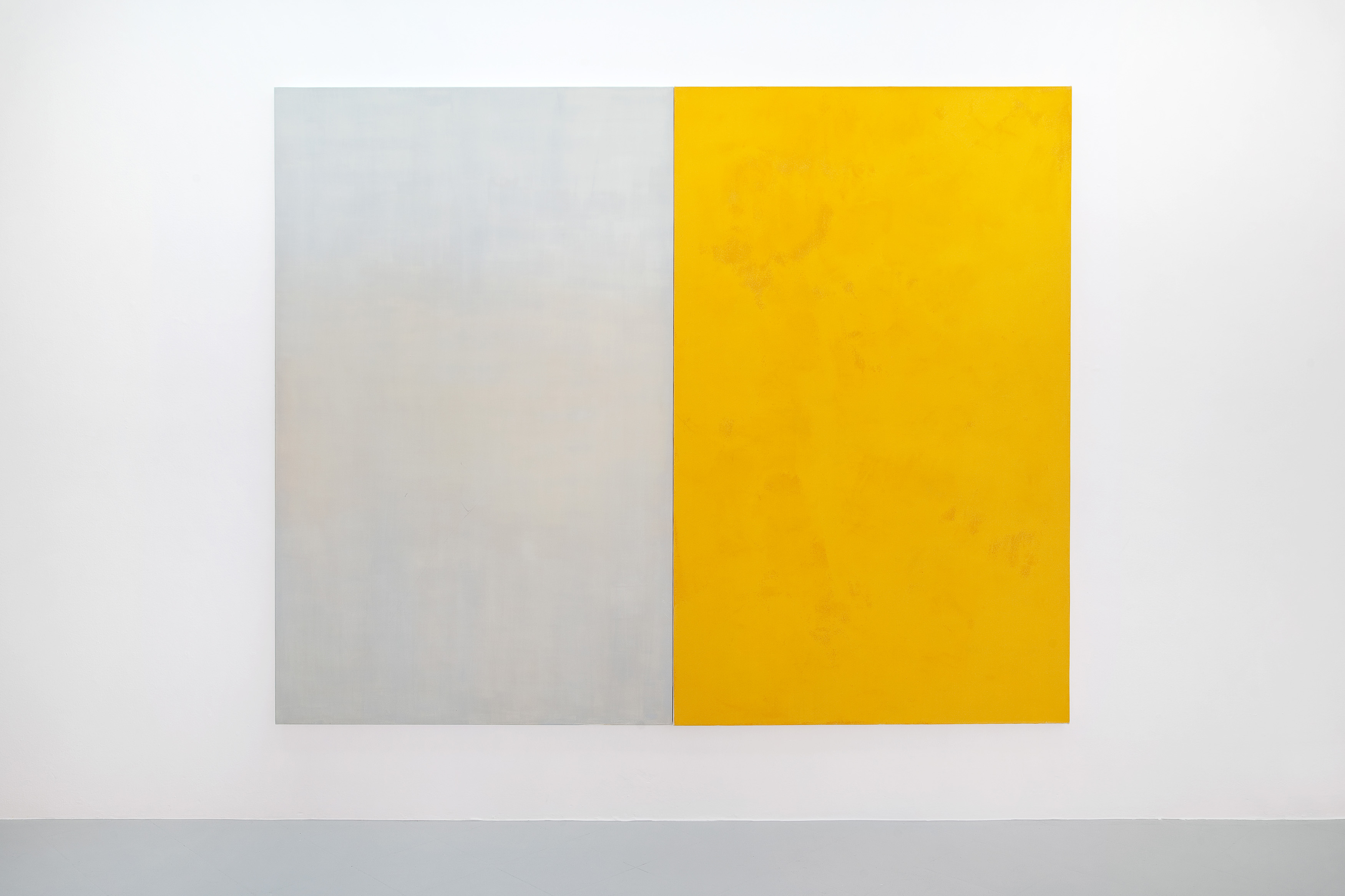 10 - Adrian Buschmann Vanilla Sky  Campari Orange 2015 oil on canvas dipthic 210x260 cm